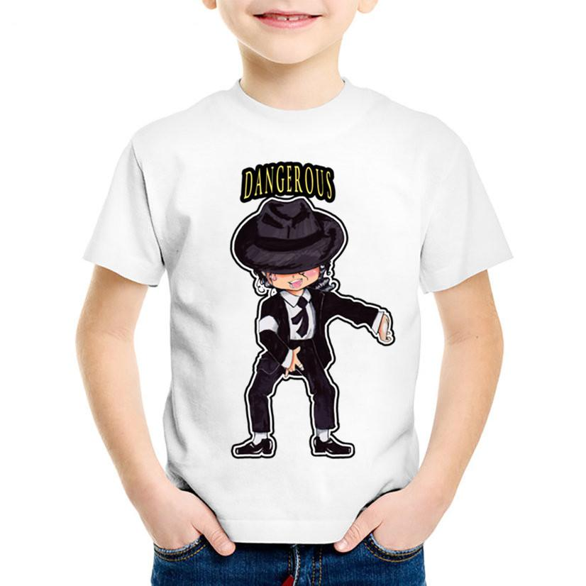 ba945652 2019 Children Cartoon Michael Jackson Funny T Shirt Kids Rock N Roll Summer  Tops Baby Boys/Girls Casual Clothes,HKP5144 From Victorys07, $21.47 |  DHgate.Com