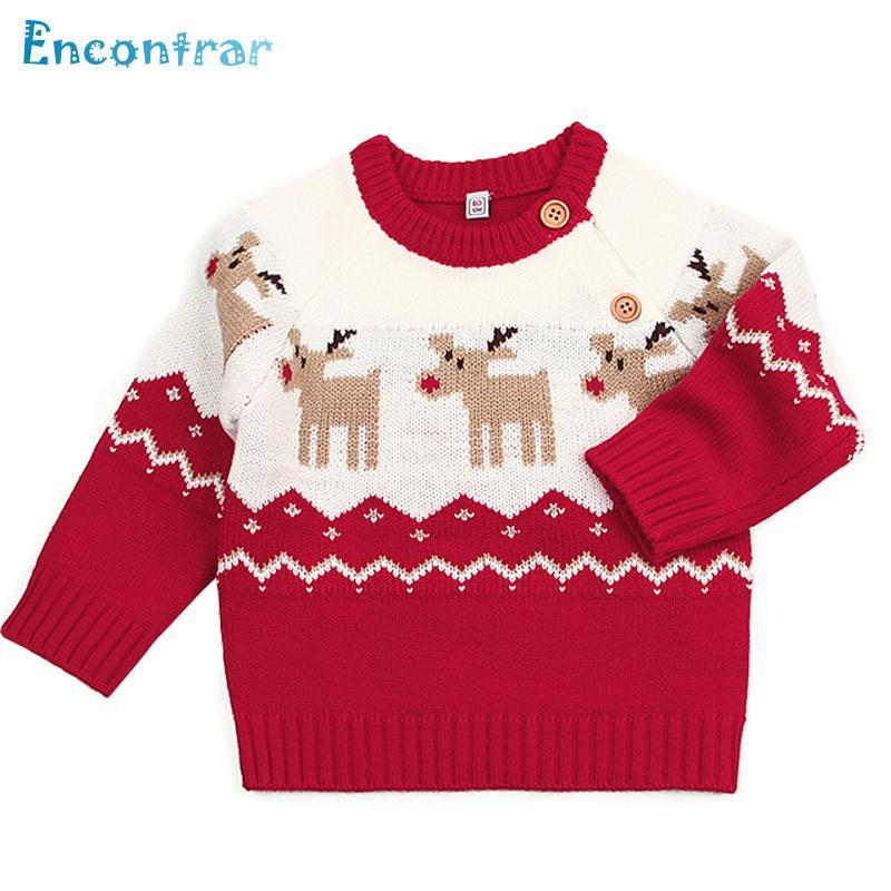 628ff91b8cfe Encontrar Baby Deer Pattern Sweaters Children Girls O Neck Cartoon ...
