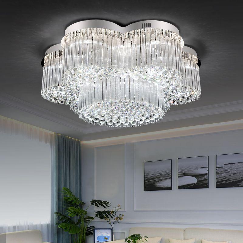 Plafoniera moderna di lusso K9 di lusso per la casa di soggiorno nuovi  moderni apparecchi di illuminazione moderni led lampadario di cristallo ...