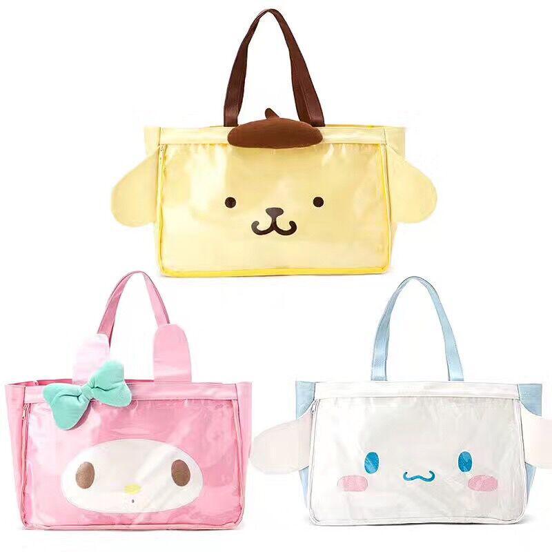 2119f45b6 Cute Cartoon Hello Kitty Cinnamoroll My Melody Trolley Travel Bag Canvas  Laptop Bag Women Girls Hand Luggage Tote Duffle Bags Duffel Shoulder Bags  From ...
