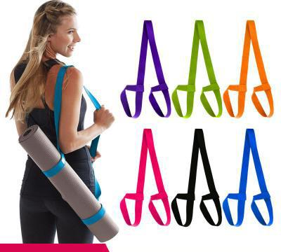 HOT Portable Yoga Mat Sling Sports Canvas Belt Fitness Gym Adjustable Carrier Shoulder Carry Strap Sports Rope MC163