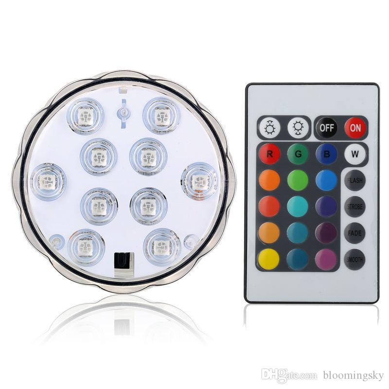 Wholesale Remote Control LED Light for hookah shisha Submersible Candle floral Light flashing Waterproof wedding party vase decoration lamp
