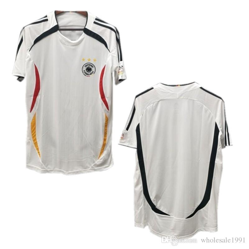 the latest c8eec 32840 2006 Germany Retro Soccer Jersey #7 SCHWEINSTEIGER #11 KLOSE Soccer Uniform  2006 #13 BALLACK #16 LAHM #20 PODOLSKI Football Shirt