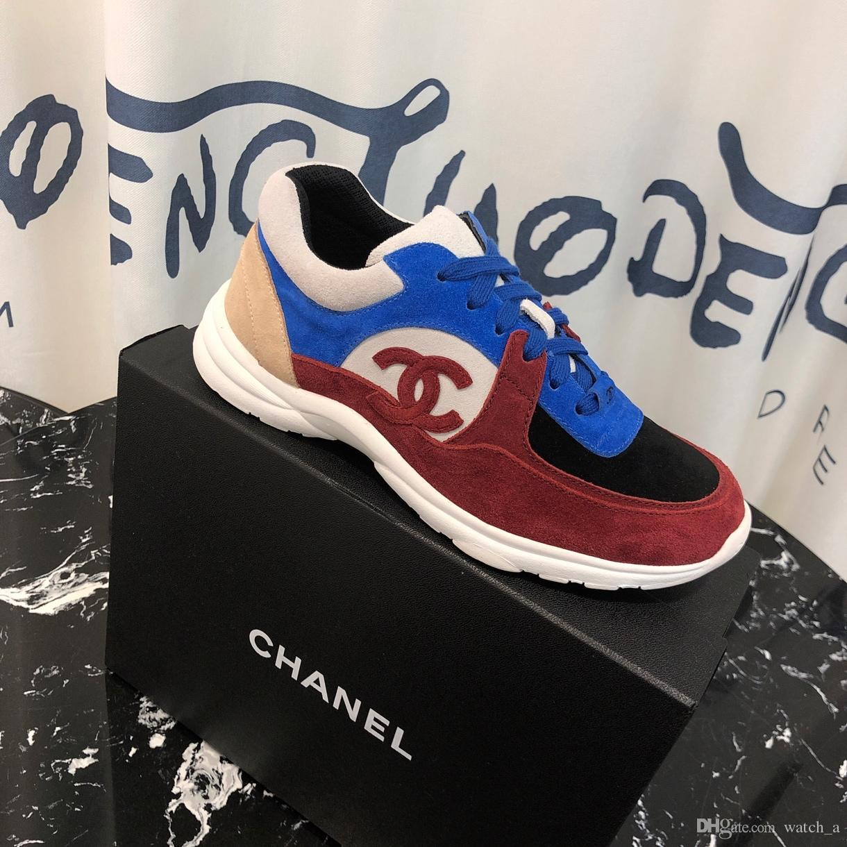 2019F new top luxury ladies casual shoes fashion wild sports shoes quality breathable ladies travel shoes original box invoice packaging