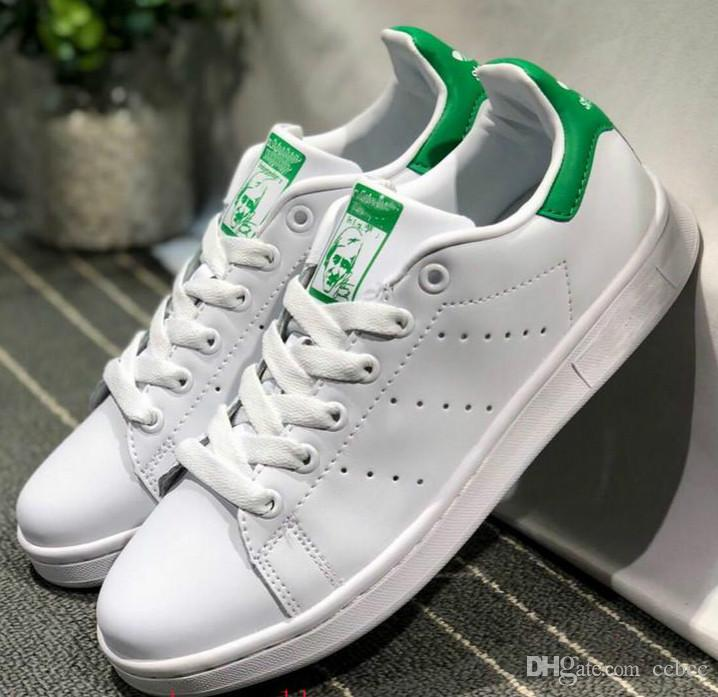 Los Angeles 74664 098fe Stan Smith chaussures Marque femmes hommes chaussures stan chaussures de  mode smith baskets en cuir casual Superstars sport chaussures sans boîte ...