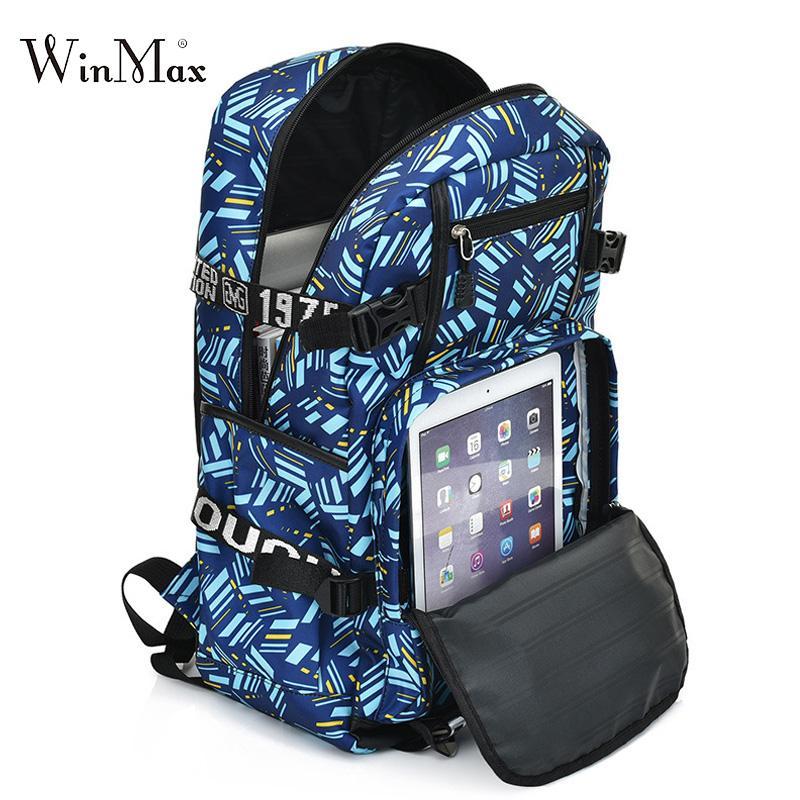 5ce59f8211 Waterproof Boys School Bags Large Capacity Laptop Backpack For Teenagers  Student Printing Bag Men College School Backpacks Women Best Backpacks  Girls ...