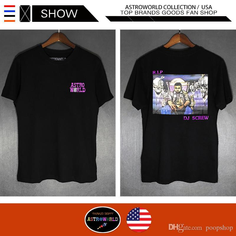 fc181109f095 Rapper Travis Scott Astroworld Designer Hip Hop T Shirts Casual ...