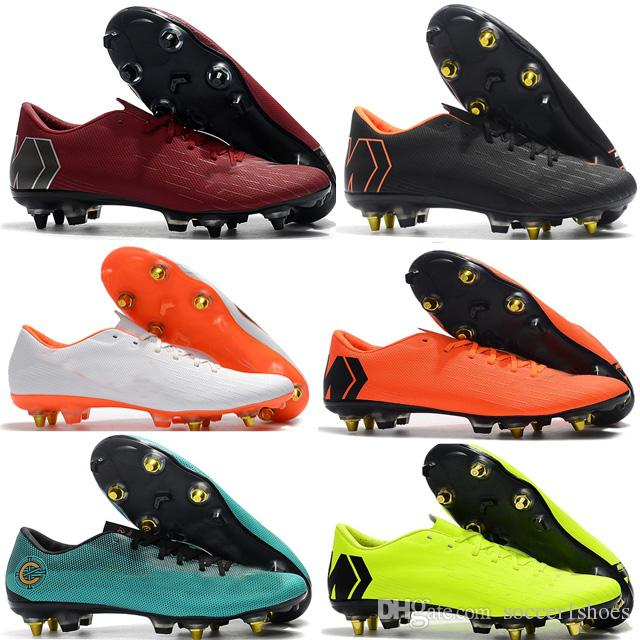 low priced 08503 60ce0 Mercurial Superfly VI Elite XII PRO SG Football Boots Mens Ronaldo Soccer  Shoes CR7 Soccer Cleats Football Shoes Steel nail