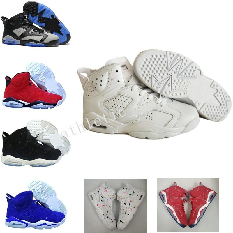 7ac098c63f4305 2019 Classic 6 Oreo UNC 6S Black Blue White Infrared Basketball Shoes  Carmine Black Cat Alternate Red Sport Blue Maroon Sneakers For Men Women  From ...