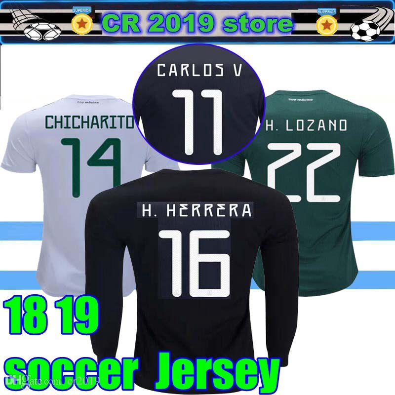 ed152e9ce 2019 GOLD CUP Mexico Soccer Jerseys 2018 World Cup Home Away ...