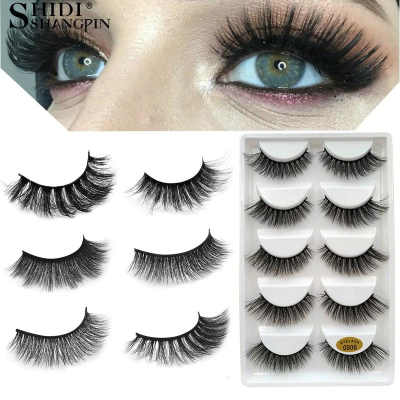 b6d6d812860 Shidishangpin Eyelashes 3d Mink Lashes Natural Long 1 Box Mink Eyelashes  1cm 1 .5cm 3d False Eyelashes Full Strip Lashes Best Eyelashes Duo Eyelash  Glue ...