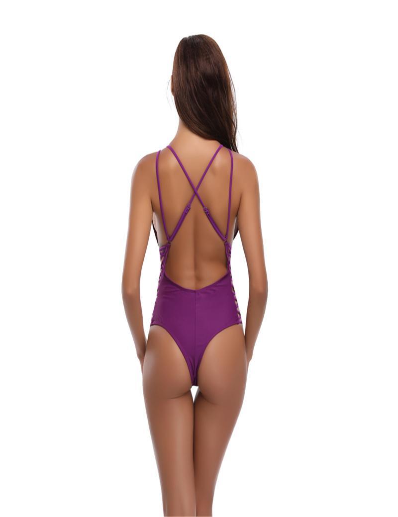زائد الحجم المرأة خمر Monokini ملابس قطعة واحدة ريترو ملابس السباحة البدلة شاطئ السباحة المرأة الخامس الرقبة Monokini ملابس الشاطئ ثوب السباحة