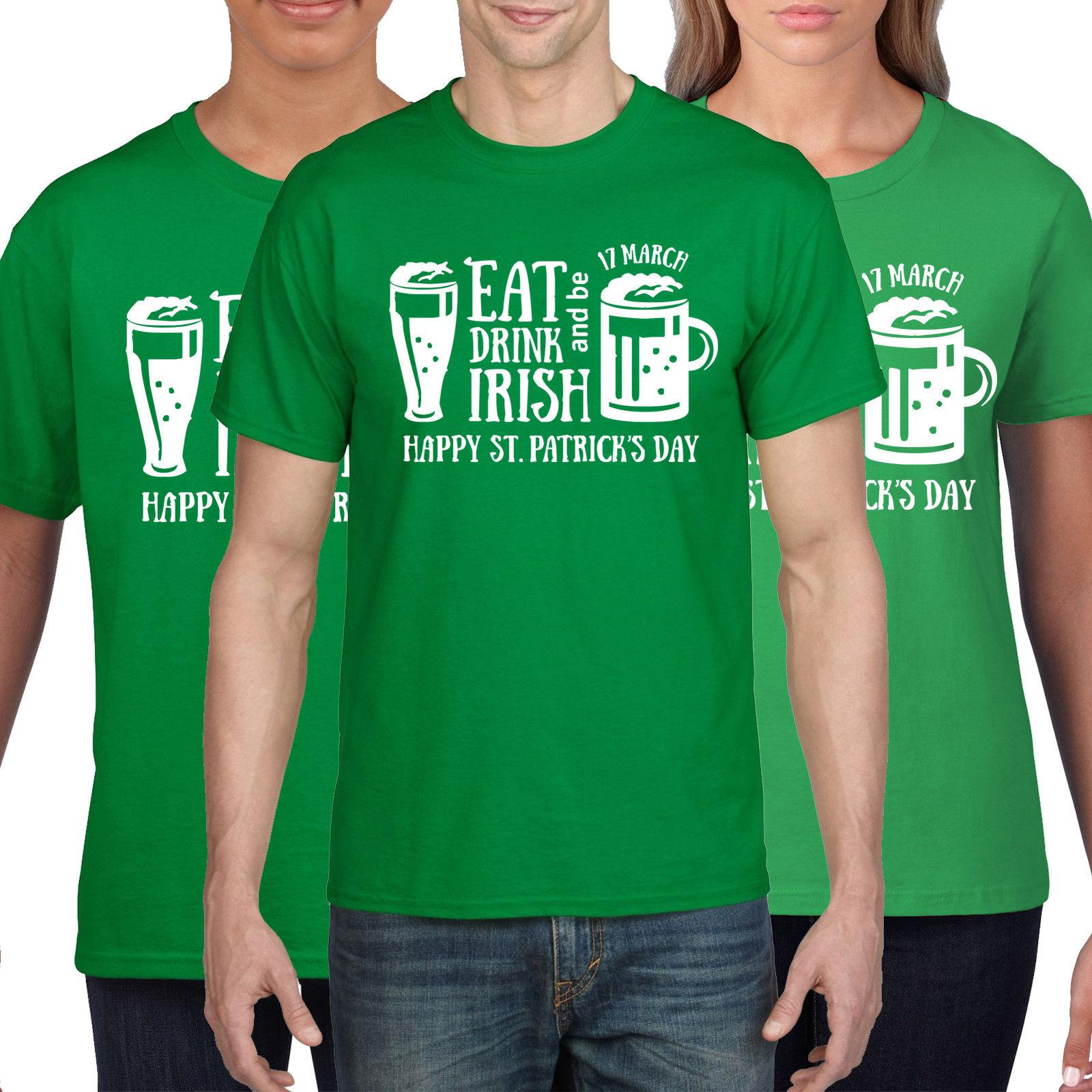 80917f2be Eat Drink & Irish Green T Shirt St Patricks Day TShirt Ireland T Shirt Flag  P35 Funny Unisex Casual Top Shirt Art T Shirts The Who T Shirt From ...