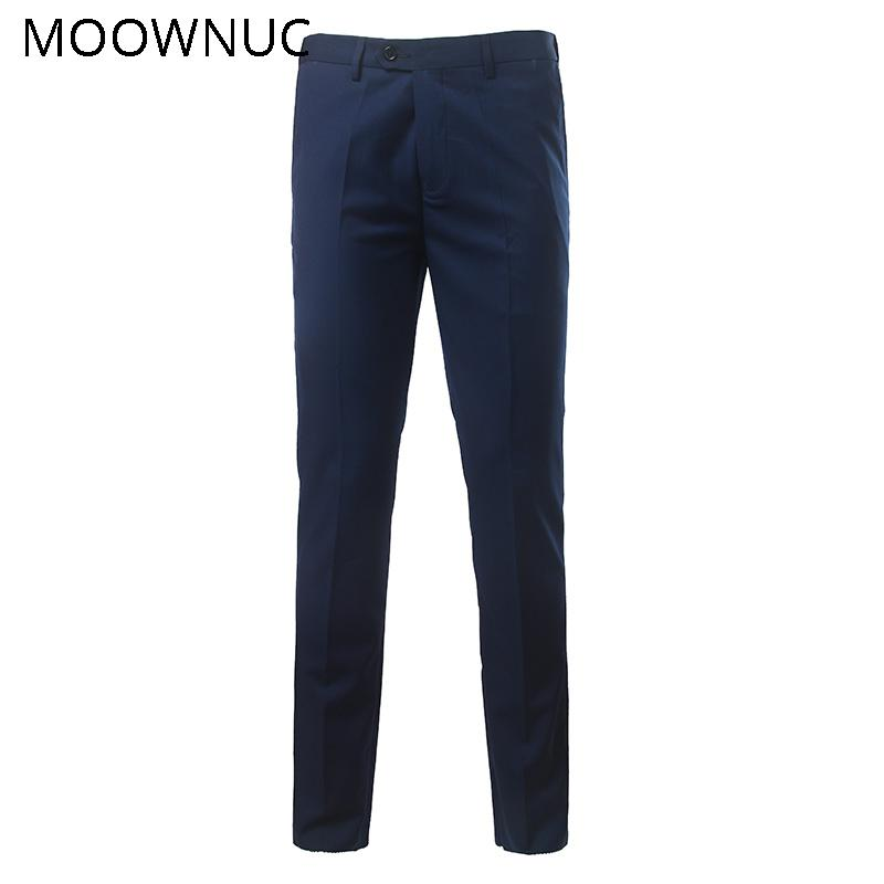 Trousers Pants Suit Pants Fashion Male Groomsman Casual Men Business Longs New Wedding Brand Slim Fit MOOWNUC Suit