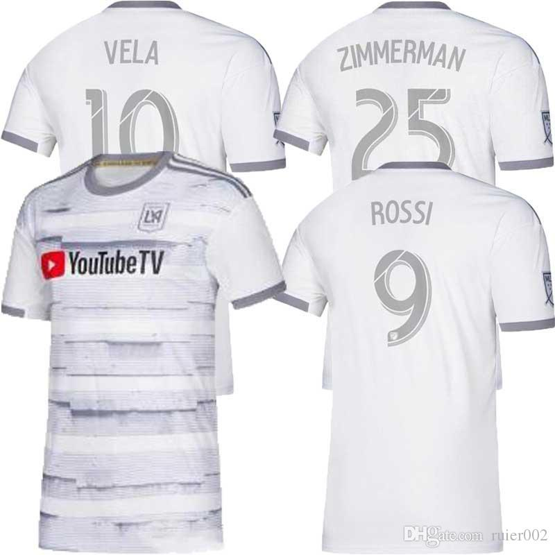 best selling Arrived 2019 LAFC Carlos Vela Soccer Jerseys 19 20 Home ZELAYA GABER ROSSI CIMAN ZIMMERMAN Parley Primary WHITE Football Shirts
