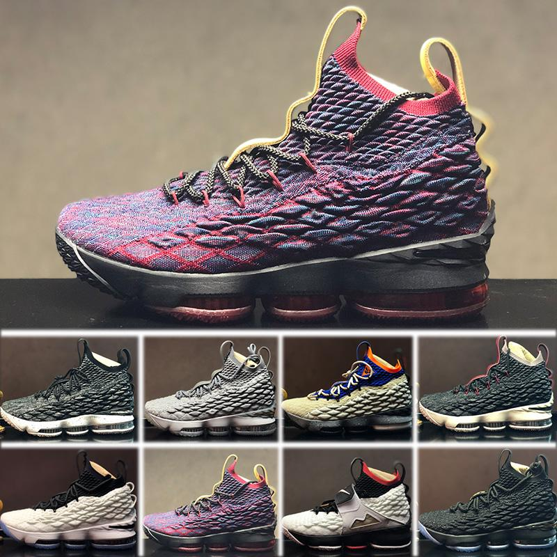online store 8c7c8 68487 Compre Nike Lebron 15 Shoes Trainer Sports Shoes Nueva Llegada Jam XV 15  Basketball Shoes Jordan Zapatos LBJs Cenizas Fantasmas Florales Zapatos  Diseñador ...