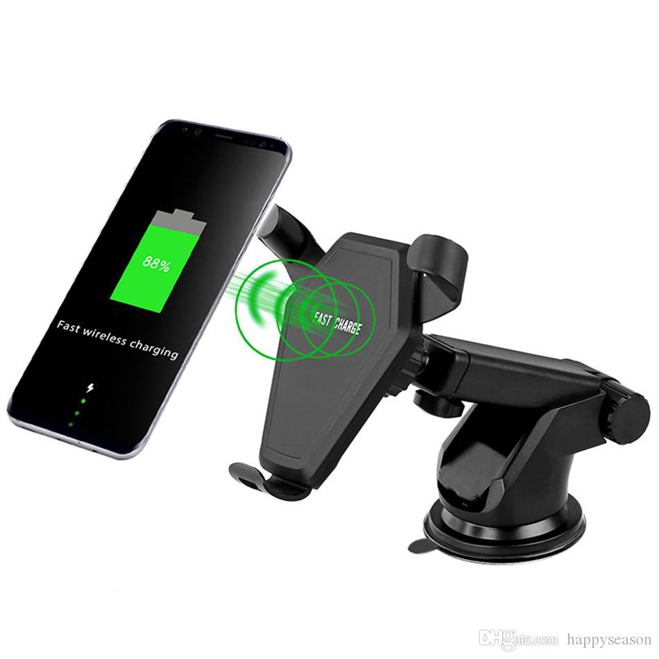 Car Wireless Fast Charger Multifunction Car Holder Vents Holder Windshield Bracket Fast For Samsung S9 S8 Plus S7 Iphone Xs X 8 Mobile Phone Accessories