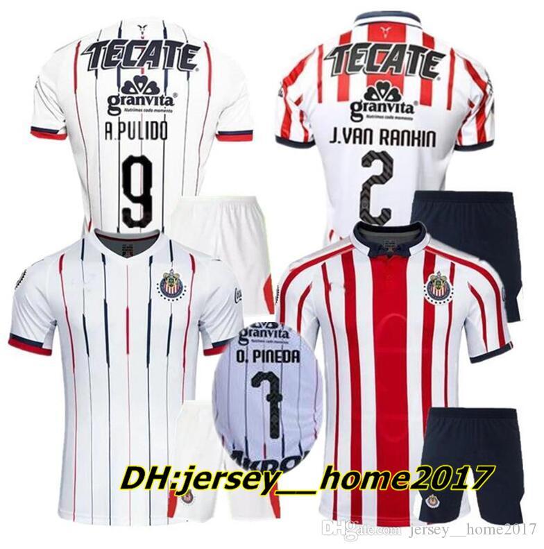 Kit Adulto 18 19 Camiseta De Fútbol De Chivas De Guadalajara Kit 2018 2019  Hombres Sets Liga Mx J.PEREIRA O.PINEDA Camiseta De Uniforme De Fútbol Por  ... f012c01fcd63f
