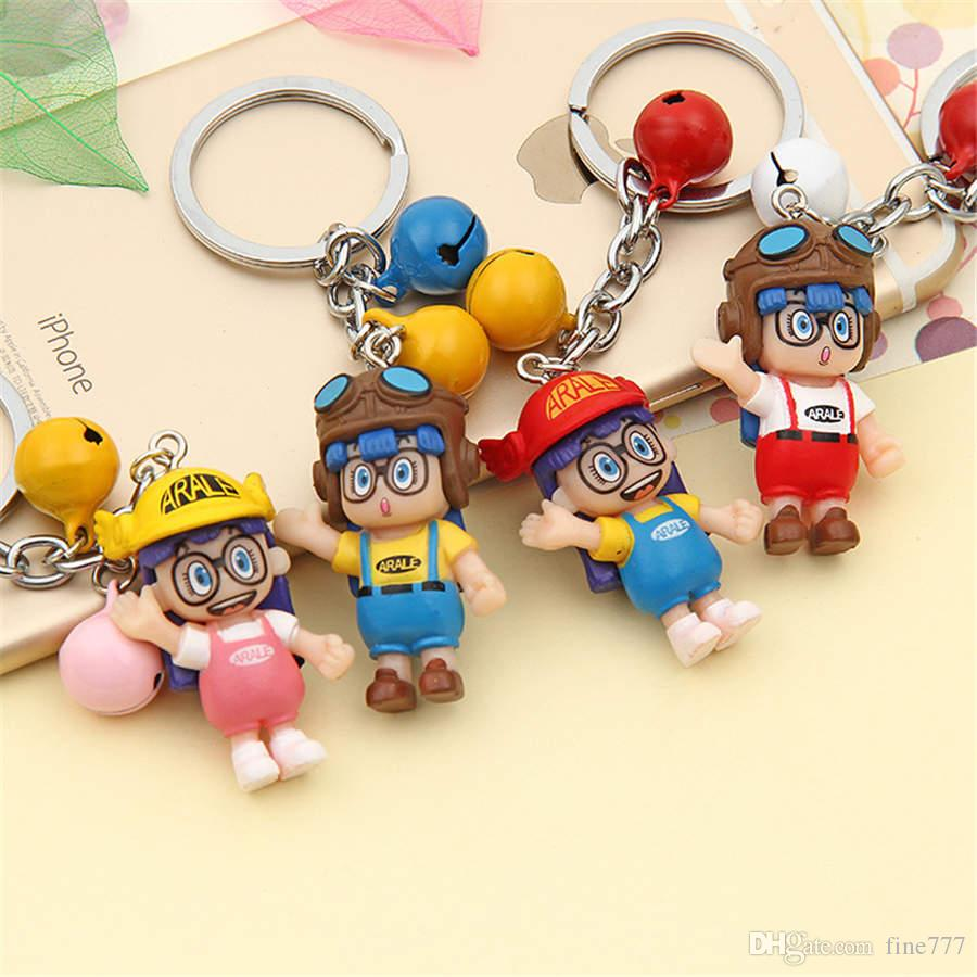 Dr slump Arale Japanese Cartoon Model Miniature PVC Action Figures Anime Mini Dolls Figurines Keychains Kids Toys for Children
