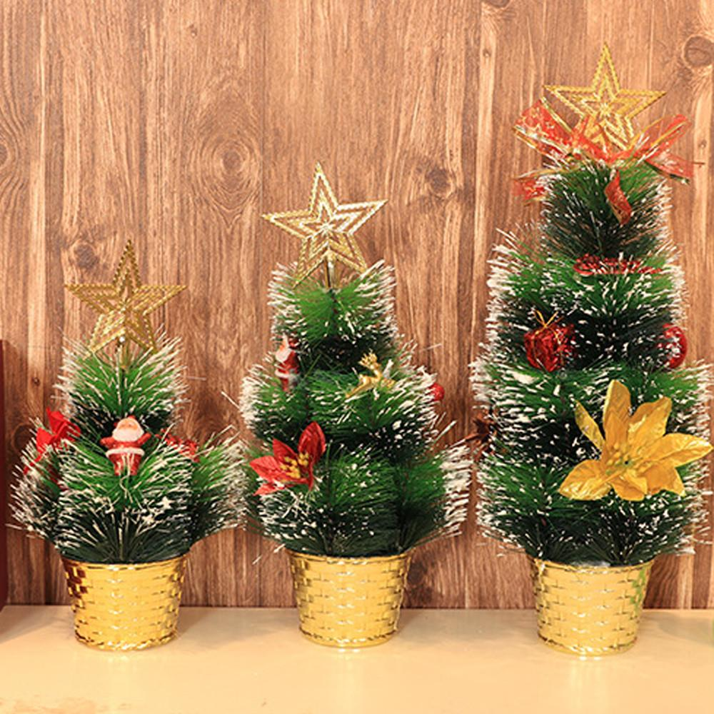 Miniature Christmas Ornaments.Ornaments Artificial Tabletop Mini Christmas Tree Decorations Festival Miniature Tree Merry Christmas Decoration New Year