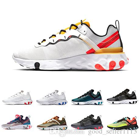 Nike Epic React 87 shoes Total Orange Royal Tint React Element 87 Zapatillas para correr Mujeres 87s Desierto Arena Azul Chill Sail Green Mist Hombres Zapatillas deportivas