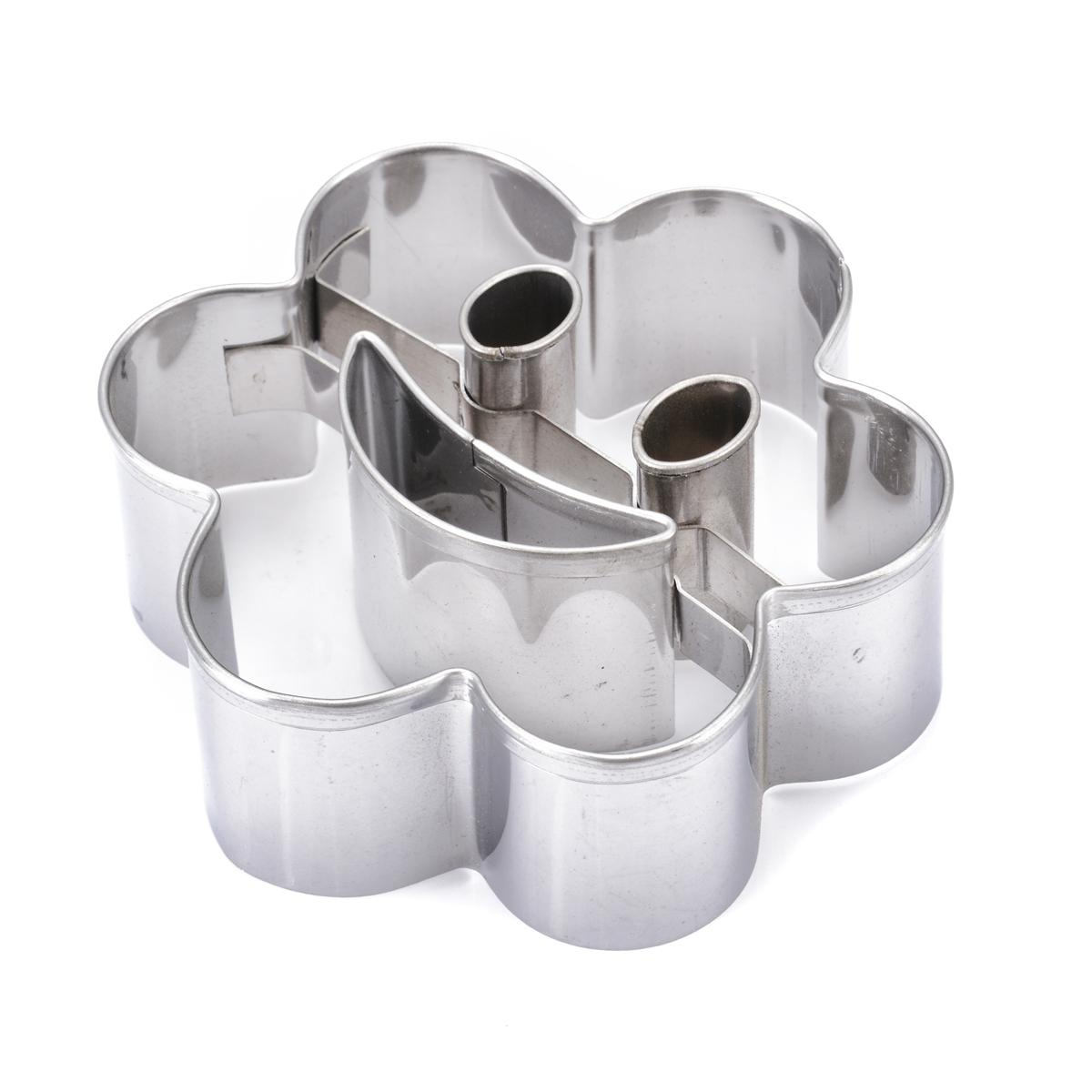 4Pcs Stainless Steel Smiling Face Biscuit Cookie Cutter Cake Decor Mould DIY For Kitchen Baking Supplies