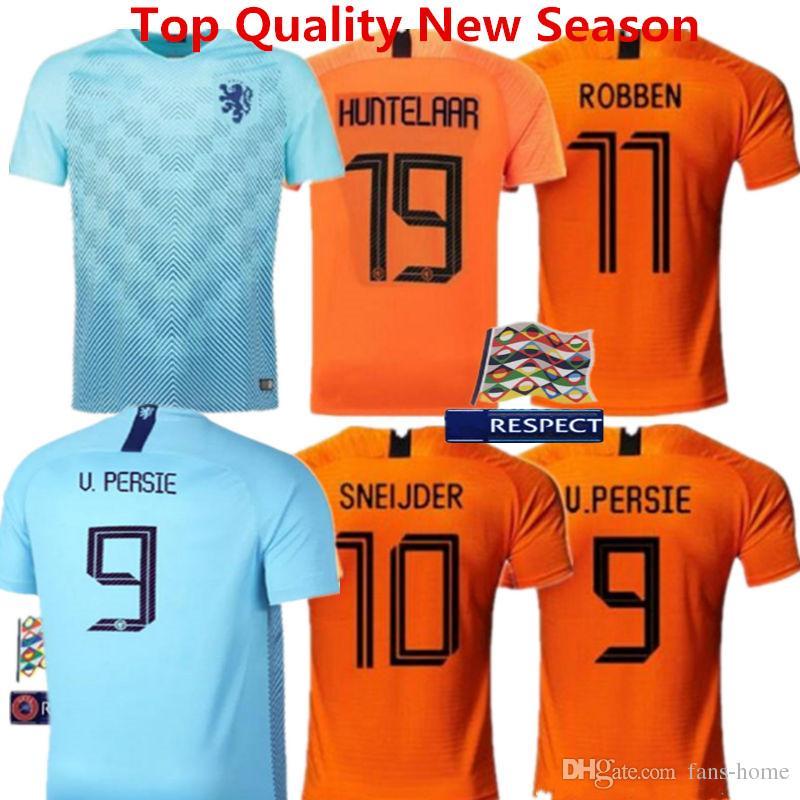 99c88597508 2019 Football Shirts Netherlands Soccer Jersey Babel VIRGIL MEMPHIS Home  Orange 18 19 ROBBEN SNEIJDER V.Persie Dutch Holland Adult Kids Kits From  Fans Home
