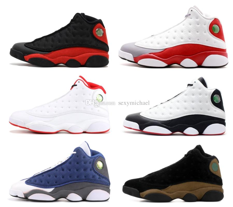 baf9537818c 13 He Got Game Classic 13s Basketball Shoes Olive Hyper Royal DMP HOF Black  Cat Play Barons Grey Toe Sneakers Carmelo Anthony Shoes Basketball Shoe  From ...