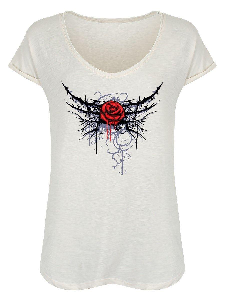Pierced Rose Women S Vintage White Roll Sleeve T Shirt Funny Unisex Casual  Tee Gift T Shirts Shop Online Of T Shirts From Shirt monkey c99549b8e