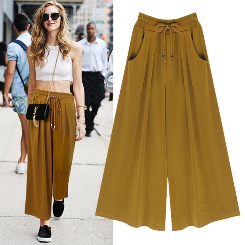 Acquista Moda Donna A Pantaloni Larga Gamba 77rRwq