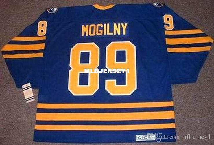 0ac9d8495 2019 Wholesale Mens ALEXANDER MOGILNY Buffalo Sabres 1992 CCM Vintage Away  Cheap Retro Hockey Jersey From Nfljersey1, $26.91 | DHgate.Com