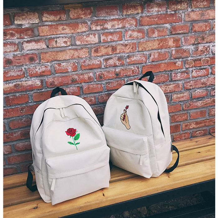 4bf84395ec2c Men Women Oxford Cloth Backpack Cute Rose Embroidery Rucksack For Teenagers Travel  Bags School Bags Women Bag Camo Backpack Batman Backpack From Fishmen03