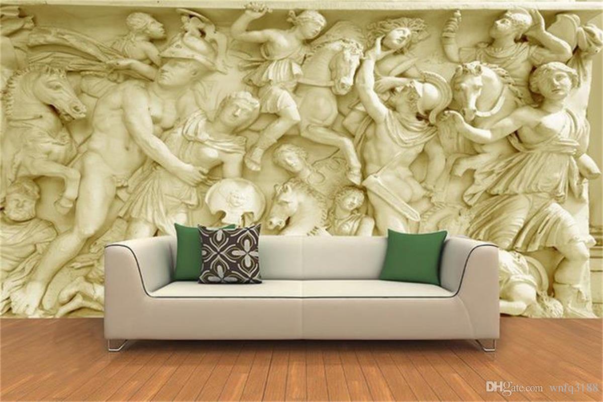 Fototapete Für Wohnzimmer | Grosshandel Benutzerdefinierte 3d Fototapete Wohnzimmer Wandbild Rom