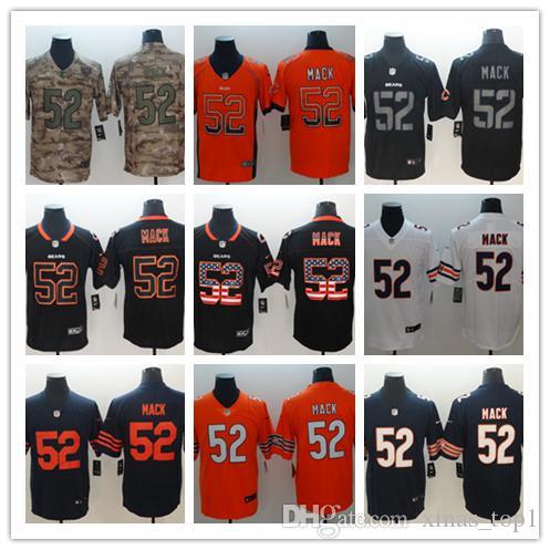 buy popular 329c7 497bb 2019 Mens 52 Khalil Mack Chicago Bears Football Jersey 100% Stitched  Embroidery Bears Khalil Mack 52 Color Rush Football Shirts