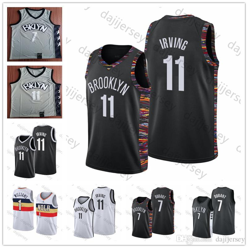 NCAA 11 Irving Jersey Kevin Durant 7 Dwyane Wade 3 Zion 1 Williamson Homens Basketball Jerseys