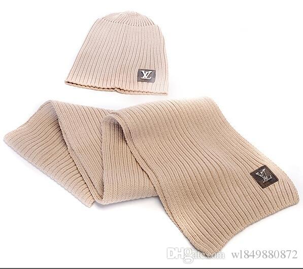 VV Hot Sale New Fashion Winter And Autumn Warm Hat High Quality Cap Men Women Scarf Hats Knitted Caps Scarf Adjustable,New Brand