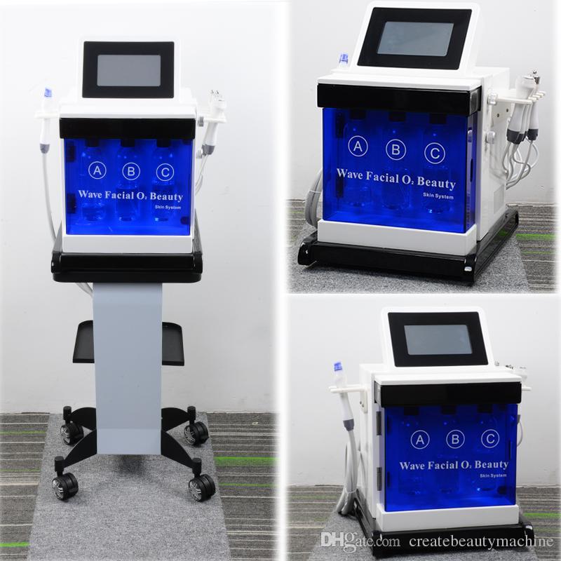 Hydrafacial Microdermabrasion Peel Machine Ультразвуковой RF BIO Вакуум-лифтинг лица Hydra-лицевая машина для очистки кожи лица
