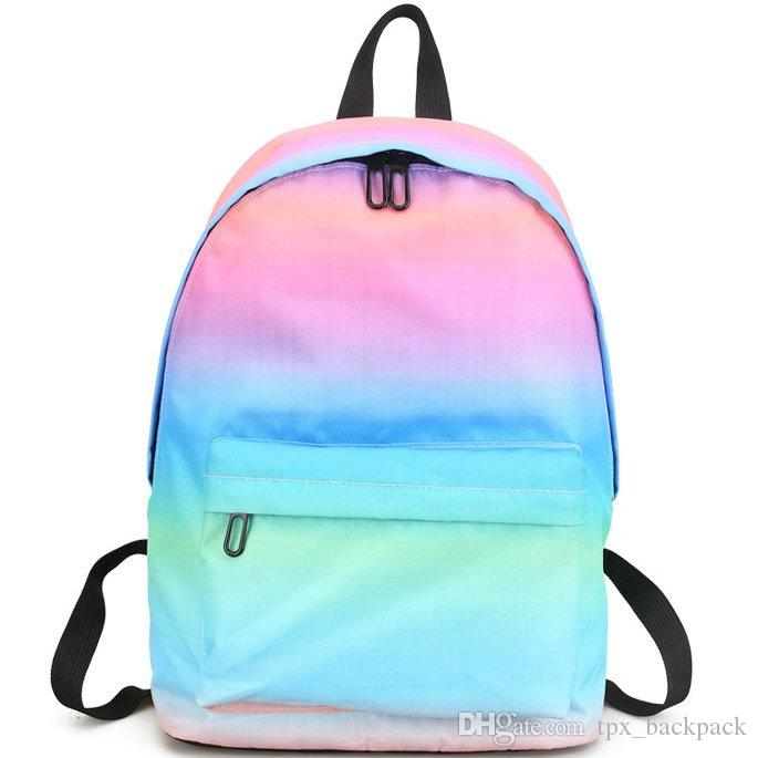 Gradient Ramp Backpack Pink Blue Day Pack Nice Color School Bag Colorful  Packsack Print Rucksack Sport Schoolbag Outdoor Daypack Cute Backpacks  Hiking ... 84045a7f77e3c