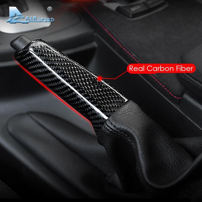 For Bmw E46 E90 E92 E60 E39 F30 F34 F10 F20 Accessories Universal Carbon  Fiber Car Handbrake Grips Cover Interior Trim
