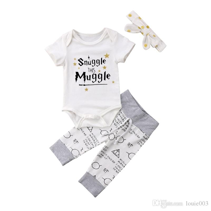 a49395ffd66 2019 Baby Girls Boys Clothes Set Newborn Infant Toddlerchildren Harry  Potter Baby Clothes Products Set Letter Print Muggle Baby Clothes From  Louie003