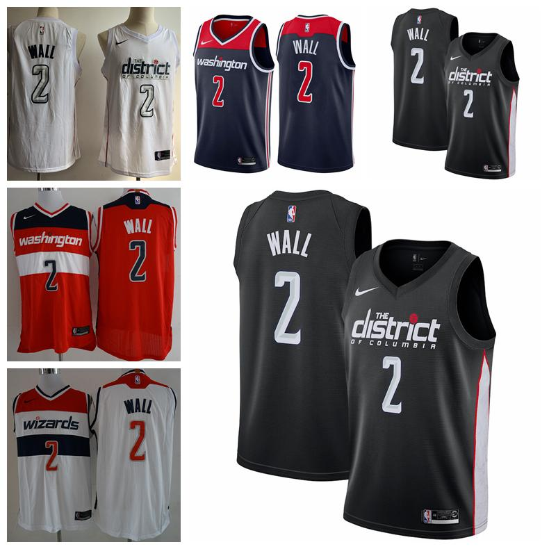 sale retailer 3fae3 054e1 2019 New Mens Washington Wizards 2 John Wall Basketball Jerseys Stitched  Wizards New City Edition John Wall #2 Black Basketball Jerseys