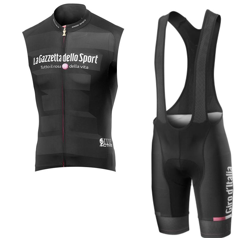 2019 Pro Cycling Jersey 3d Gel Pad Bib Shorts Set hombres verano ciclismo Maillot Wear Team Tour de Italia ciclismo ropa Y041506