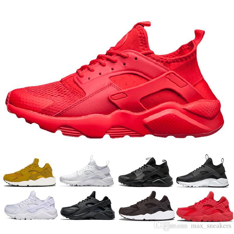 1cb8ccdcd3a0a 2019 Huarache 1.0 4.0 Men Running Shoes Stripe Red Balck White Rose Gold  Women Designer Shoes Sport Sneakers 5.5 11 Running Shoes For Women Running  Trainers ...