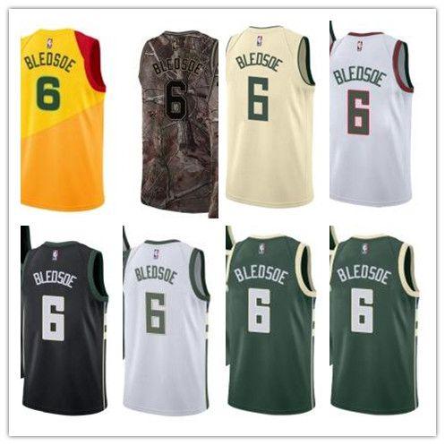 finest selection ac728 3add4 custom 2019 Milwaukee Buck Jerseys #6 Eric Bledsoe Jerseys  men#WOMEN#YOUTH#Men's Baseball Jersey Majestic basketball jersey