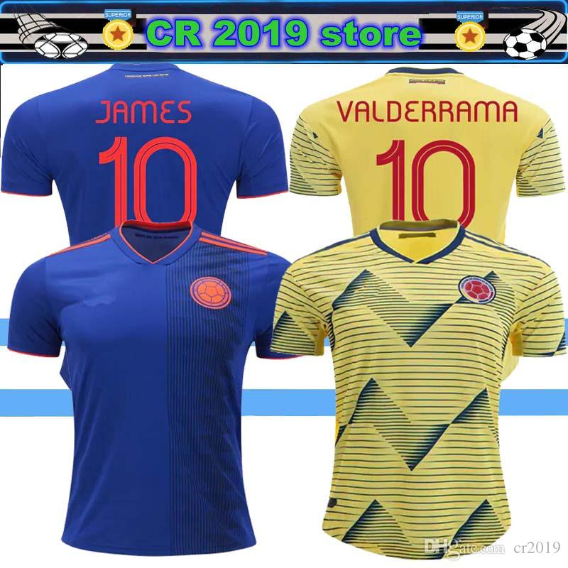 detailed look 730f8 fb22b 2019 Colombia jersey 2020 Colombia home soccer jerseys 19 20 Colombia away  FALCAO JAMES CUADRADO TEO BACCA football shirt