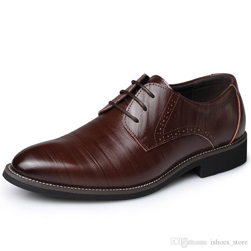 ddcca1add Compre Moda Verão Homens Sapatos Casuais Clássicos Apartamentos De Couro  Genuíno Masculino Oxford Vestido Formal De Luxo Zapatos Hombre Plus Size 47  # 6579 ...