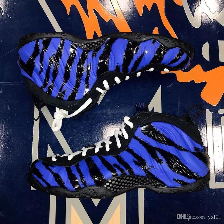 2019 New Arrival Foam One Sparpie Tiger stripes Penny Hardaway Basketball Shoes for High quality Blue Foams Mens Sports Sneakers Size 7-12