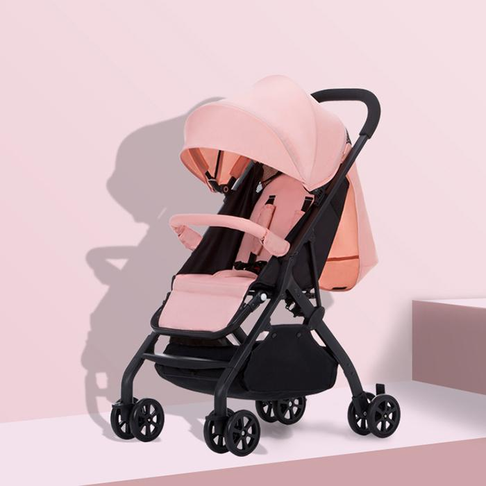 Wisesonle Multi-Functional Four Wheels Baby Stroller Aluminum Alloy One-Hand Folding Waterproof Baby Cart For 0-3 Years Old