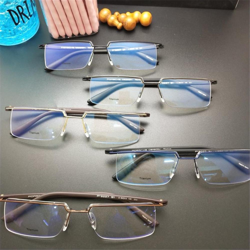 b721434fe2a0 New Luxury Rectangle Glasses High Quality Semi Rimless Simple Men ...