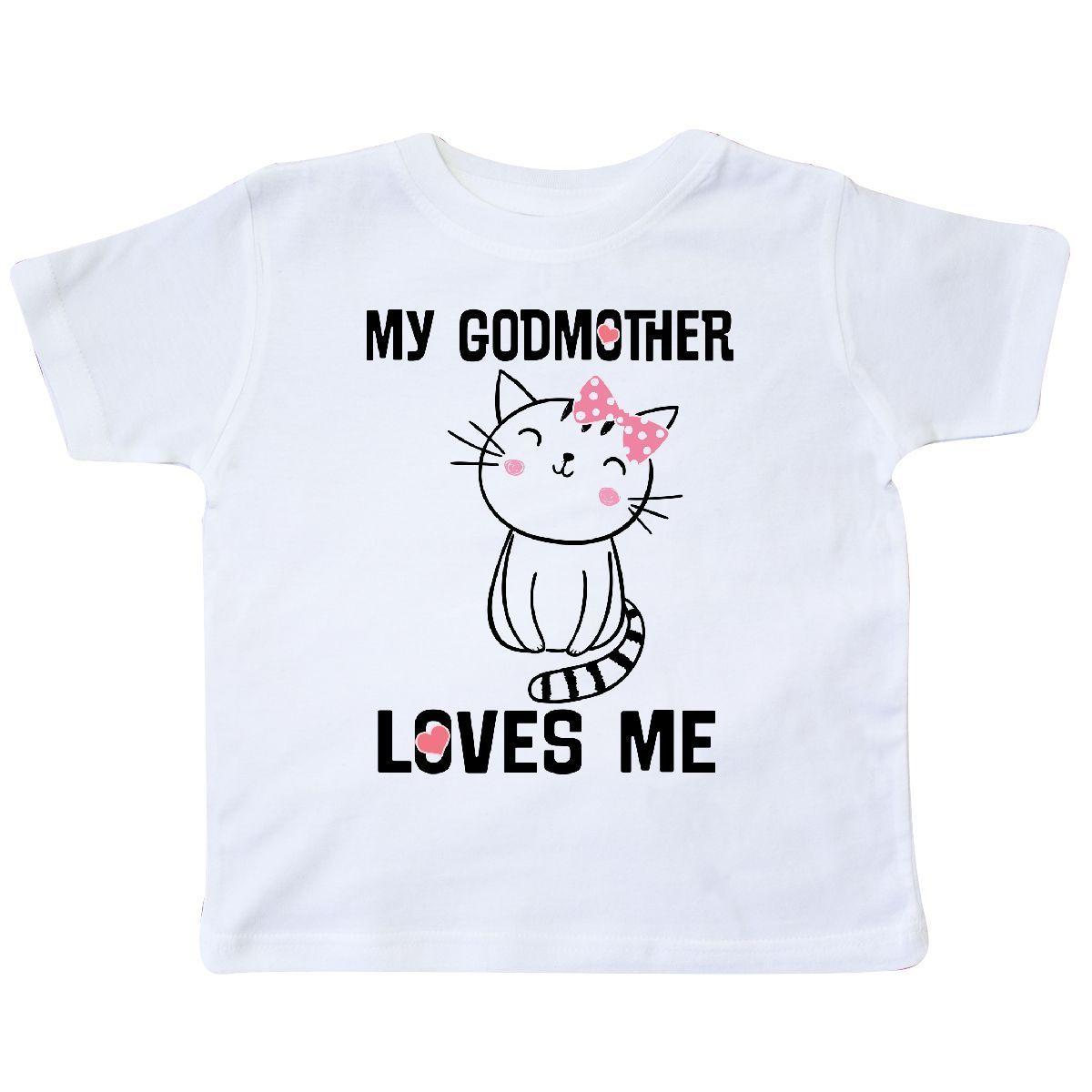 afa0c5e0 Inktastic My Godmother Loves Me Girls Kitty Toddler T Shirt Goddaughter  Godchild Denim Clothes Camiseta T Shirt Buy Shirt Designs Funny Clever T  Shirts From ...